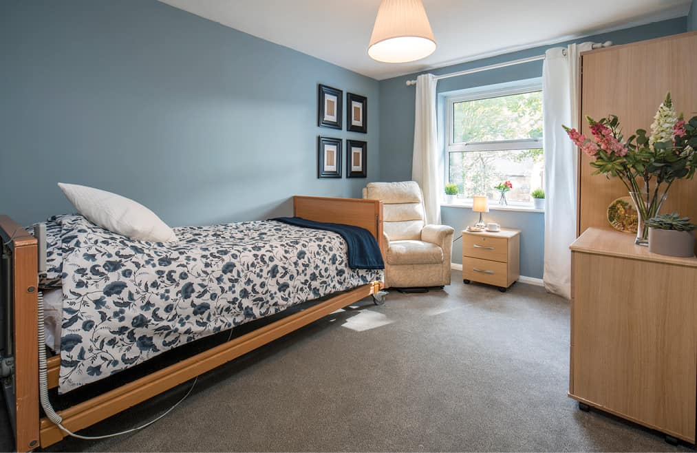 Accommodation - a blue bedroom