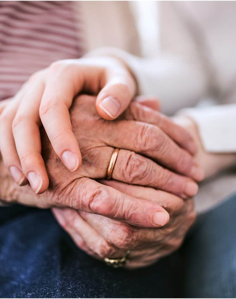 News and Updates: Testimonials of outstanding care- Holding hands