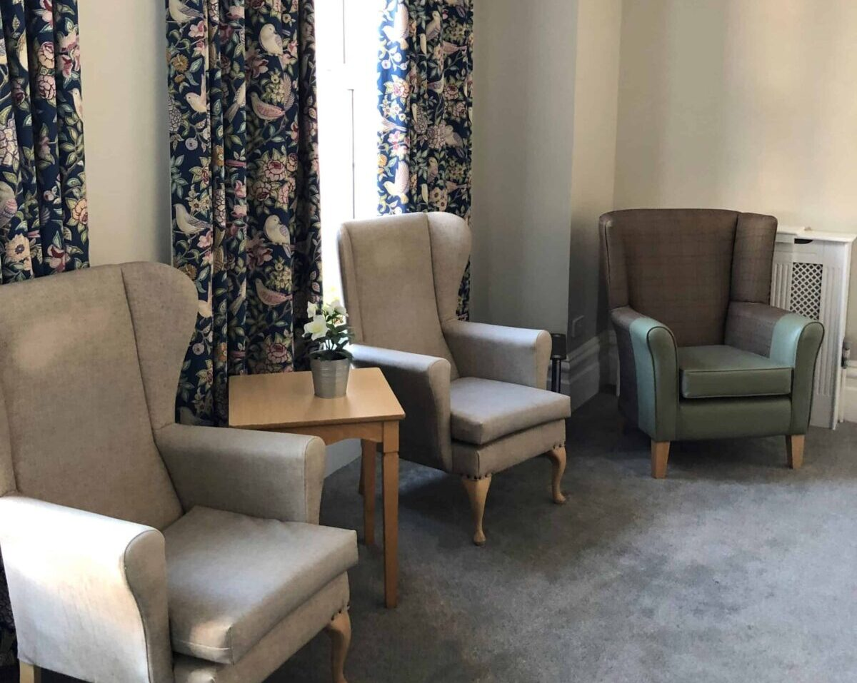 St Vincent's Care CQC 'Good' rating in Bexhill - comfortable small lounge